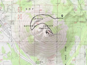 Black Butte topo map