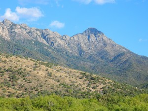 Mount Wrightson looms over Madera Canyon. Photo from day trip earlier in May.