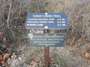 Sign at the primary trailhead at Miller Flat.